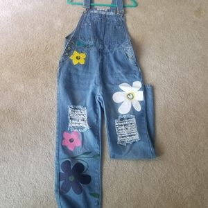 Denim overalls spunky and cute, brand new, never